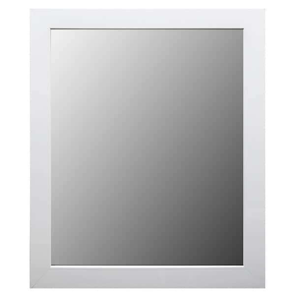 Shop white framed bathroom full length mirror free - Full length bathroom wall mirror ...