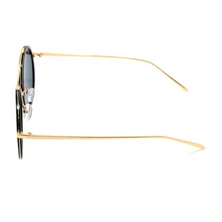 Dasein Gold/Metal Frame Round/Colored Lens Sunglasses