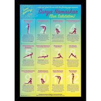 Yoga Sun 24-inch x 36-inch Salutation Print With Black Wood Frame