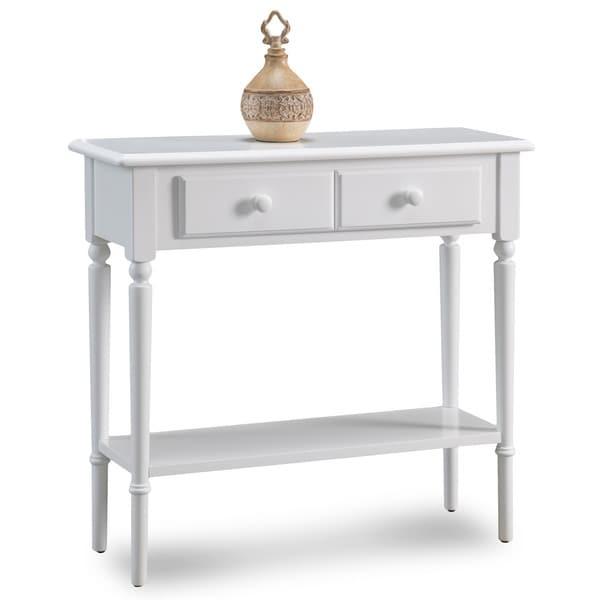 Coastal Narrow Hall Stand Sofa Table With Shelf