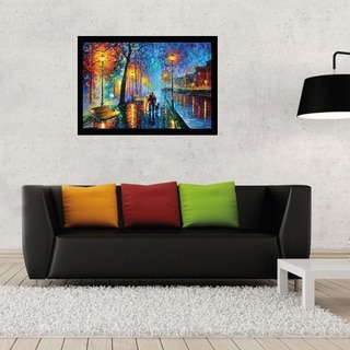 Leonid Afremov 'Melody of the Night' Print With Contemporary Poster Frame