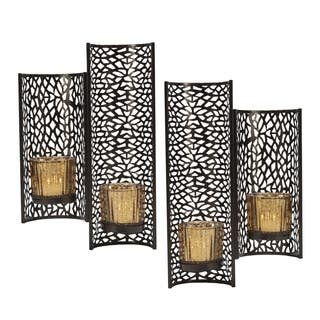 Mikasa Brown Laser-cut Wall Sconce (Set of 2)|https://ak1.ostkcdn.com/images/products/12143861/P18999263.jpg?impolicy=medium