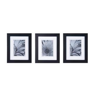 Mikasa Black/White Glass/Wood Frames (Pack of 3)