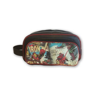 Marvel Retro Comic Black Faux Leather Toiletry Bag