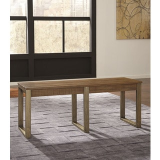 Signature Design by Ashley Dondie Brown Solid Wood Dining Room Bench