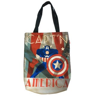Marvel Decadent Captain America Canvas Shopper Tote Bag
