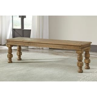 Signature Design by Ashley Trishley Brown Large Solid Wood Dining Room Dining Bench