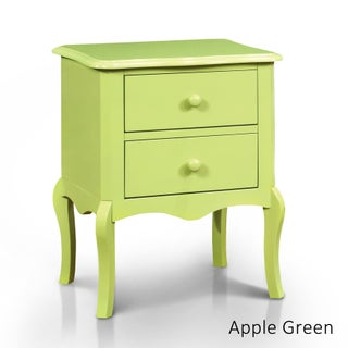 Maison Rouge Wyn Traditional 2-drawer Nightstand (Option: Apple Green)