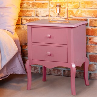 Maison Rouge Wyn Traditional 2-drawer Nightstand (Option: Pink)