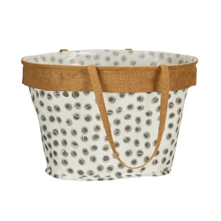 Household Essentials Dot Print Oval Krush Reusable Container