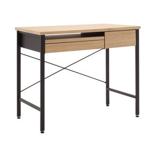 Calico Ashwood Oak MDF/ Metal Compact Desk