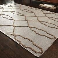 Handcrafted Lennon Slate Wool Rug - 9'3 x 13'