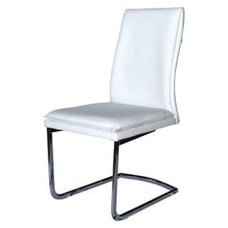 Casablanca Home Veneto Collection White Eco-Leather Dining Chair