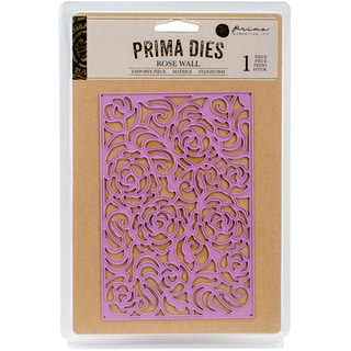 Prima Marketing Purple Metal Die Rose Wall