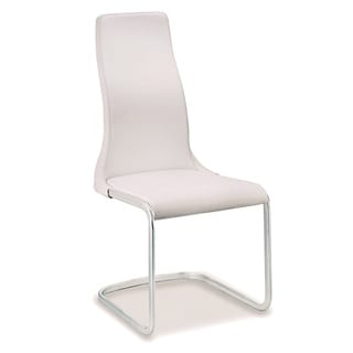 Talenti Casa Vero Collection Italian White Leather Dining Chair