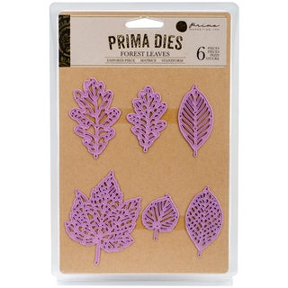 Prima Marketing Purple Metal Die Forest Leaves 6/Pkg