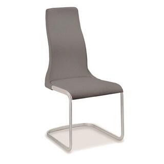Talenti Casa Vero Collection Italian Grey Leather Dining Chair