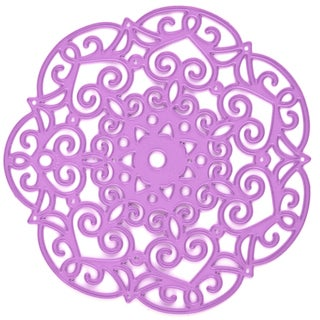 Prima Marketing Purple Metal Die Embroidery Doily