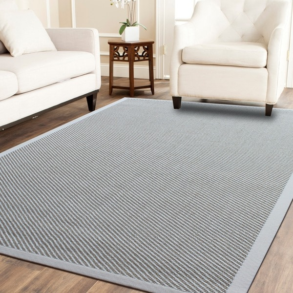 Twill Weave Pet Sisal Rug With Matching Cotton Border - 8' x 10'