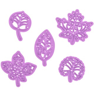 Prima Marketing Purple Metal Die Moroccan Foliage 5/Pkg