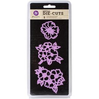 """Prima Marketing Purple Metal Die Open Flowers 3"""" 3/Pkg"""