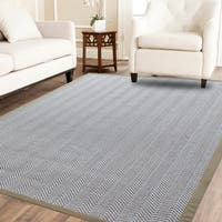 Powerloom Pet Sahara/White Sisal Wool Herringbone Rug - 8' x 10'