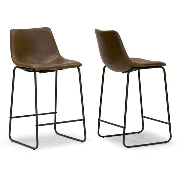 Carbon Loft Richard Faux Leather and Iron Counter Stool (Set of 2). Opens flyout.
