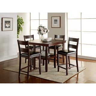 LYKE Home Bree Square Counter Table   Cherry Brown
