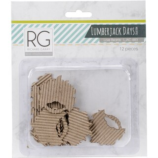 "Lumberjack Days Cardstock Die-Cuts 12/Pkg Love Beards 1""X1"""