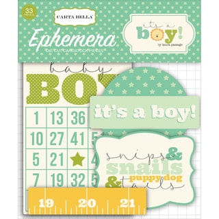 It's A Boy Ephemera Cardstock Die-Cuts