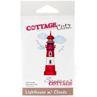 """CottageCutz Die Lighthouse W/Clouds 2""""X3"""""""
