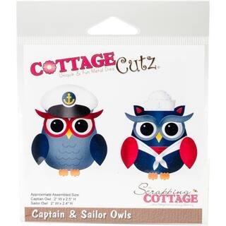 "CottageCutz Die Captain & Sailor Owls 2""X2.5"" https://ak1.ostkcdn.com/images/products/12144198/P18999597.jpg?impolicy=medium"