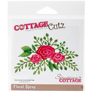 """CottageCutz Die Floral Spray, 3.5""""X2.3"""""""