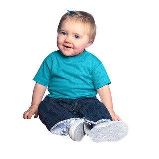 Infant Turquoise Short-sleeved Jersey T-shirt