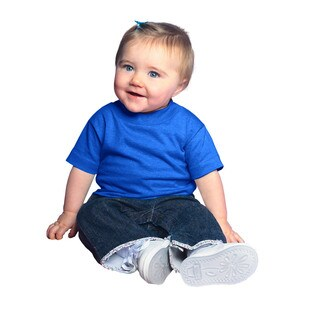 Royal Blue Cotton 5.5-ounce Infant Short Sleeve Jersey T-shirt