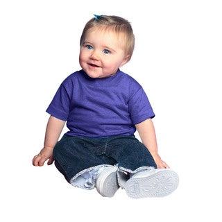 Infant Purple Short-sleeved Jersey T-shirt