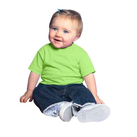 Infants' Key Lime Cotton Jersey Short-sleeved T-shirt