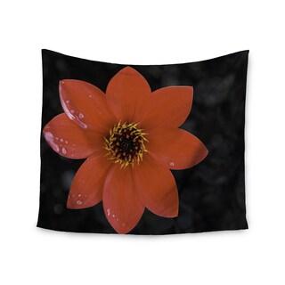 KESS InHouse Nick Nareshni 'Wet Red Flower Petals' Red Black 51x60-inch Tapestry