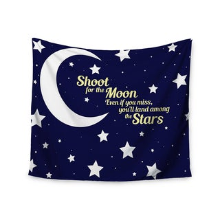 KESS InHouse NL Designs 'Moon And Stars Quote' Blue White 51x60-inch Tapestry