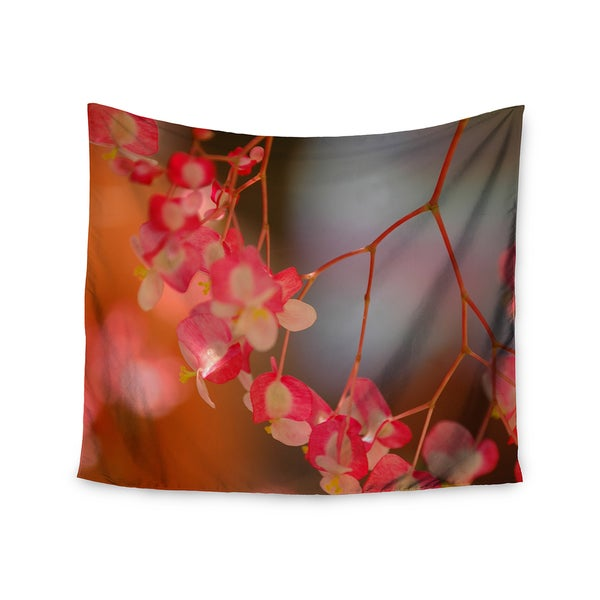 KESS InHouse NL Designs 'Hanging Flowers' Pink Floral 51x60-inch Tapestry