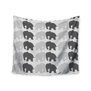 KESS InHouse NL Designs 'Elephants On Parade' Gray Animals 51x60-inch Tapestry