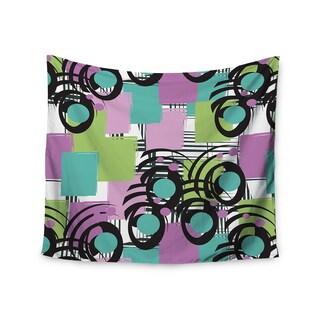 KESS InHouse Chickaprint 'Solfege' Teal Lavender 51x60-inch Tapestry