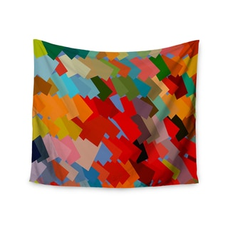 KESS InHouse Matthias Hennig 'Playful Rectangles' Red Orange 51x60-inch Tapestry