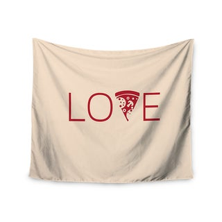 KESS InHouse KESS Original 'Slice of Love' Tan Red 51x60-inch Tapestry