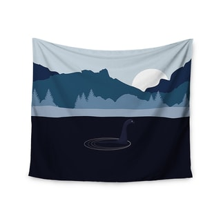 KESS InHouse KESS Original 'Swimming with Nessie' Blue Fantasy 51x60-inch Tapestry
