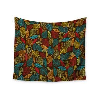 KESS InHouse KESS Original 'Leaves All Around' Multicolor Brown 51x60-inch Tapestry