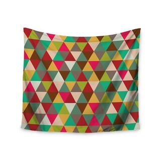 KESS InHouse KESS Original 'Autumn Triangle Spectrum' Multicolor Geometric 51x60-inch Tapestry