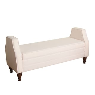 HomePop Emily Storage Bench Settee Soft Blush