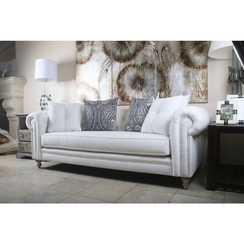 Vintage Patrick Chesterfield Linen Sofa