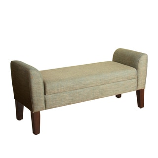 HomePop Tara Storage Bench Settee Marine and Natural